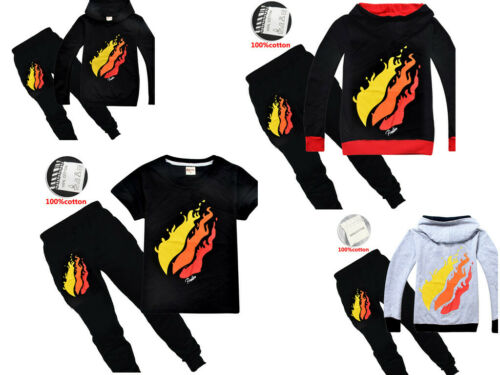 New Prestonplayz Kids Boys Girl/'s Hoodie Sweatshirt+Pants Pyjamas Outfit