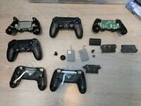 Assorted Playstation Dualshock 4 controller parts.