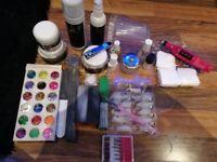 Acrylic nail set.