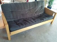 3 Seater Futon Sofa Bed - Solid wood