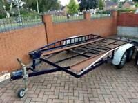 Car trailer transporter twin axle