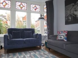 Blue DFS 2 Seater Sofa