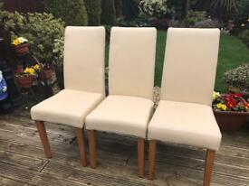 3 leather chairs