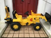Toy digger CAT solid, great condition .