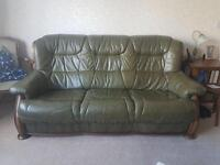 3 piece suite Belgian analine leather