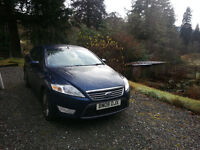2008 Ford Mondeo 2.0TDCi 140 Ghia Full MOT high long distance miles.Midnight Blue. 2 keys handbook