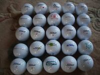 25 Titleist DT SoLo golf balls, all in excellent condition