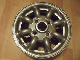 GENUINE CLASSIC MINI COOPER WHEELS REFURBISHED TO AS NEW CONDITION