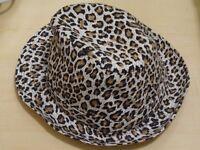 Leopard / Animal Print Hat - Trilby Style