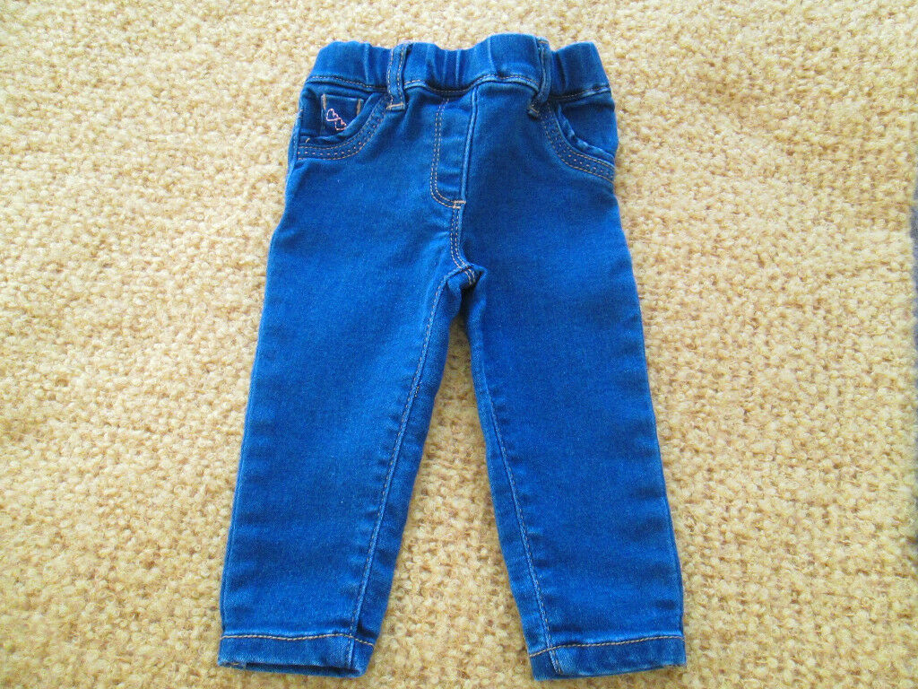 eee94e63d BABY GIRLS JEGGINGS JEANS X2 - 3-6 MONTHS   9-12 MONTHS ...