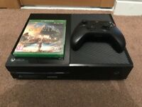 Xbox One with controller and Assassins Creed origins FOC