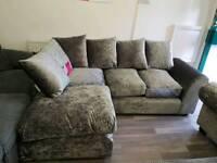 Corner sofa crush velvet brand new