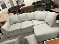 Dfs corner sofa with storage footstool