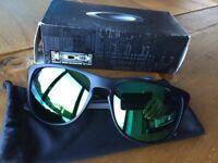 Oakley sliver R matte black with jade iridium lens