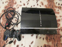 Playstation 3 with 2 controllers,move controller, leads and 10 games !!!
