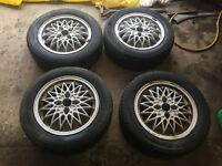 "honda civic del sol eg ek4 vti ej9 15"" bbs alloy wheels with tyres 4x100"