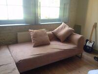 Low- back corner chaise sofas (2 parts) Berlin Design. Microfiber. Great condition.