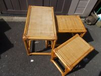 NEST OF 3 BAMBOO TABLES