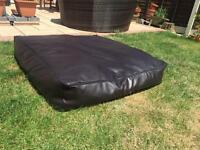 Large faux Leather Brown Dog Bed