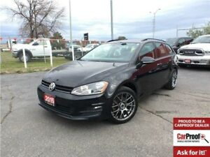 2015 Volkswagen Golf 1.8 TSI**LEATHER**NAV**SUNROOF**BACK UP CAM