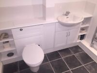 Full bathroom suite with corner bath £50, must collect