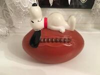Vintage Snoopy rugby ball money box