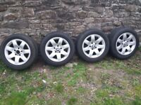 "16"" bmw 3-series e46 wheels with near new vredestein tyres 318,320,323,325,328 etc"