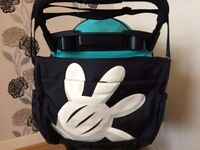 Disney Mickey Mouse Baby Changing Bag, Nappy Bag (Black)