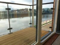 Luxury 2 bedroom Waterfront apartment with balcony overlooking the Usk River.