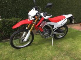 HONDA CRF250L - F. 2016 (66 plate). excellent condition
