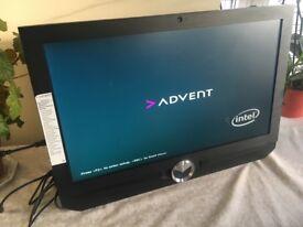 Win 10 pro Powerful All-in-one 24'' Advent DA2207-24 PC i3 2120 8GB RAM DDR3 2TB HDD