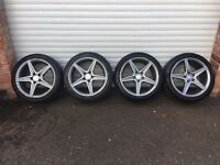 18'' GENUINE MERCEDES AMG SPORT ALLOY WHEELS TYRES C CLASS W205 S205 W204 PLUS