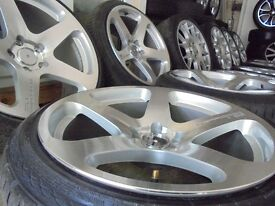"""18"""" genuine perfoma 19 concave stanced alloy wheels bola bbs audi a4 a6 a3 5x112"""