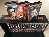 James Bond 007 VHS Video Collection 19-Tape Box Set in very good condition!