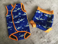 SPLASH ABOUT Swim Happy Nappy and Swim Wrap (size Large/6-14 mths/10-15kgs) -14