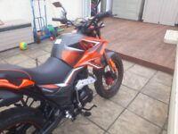 Lexmoto tekken 125 motorcycle