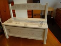 Children's Storage Bench with Illustrations