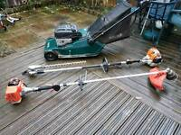 Lawnmower, strinmer,hedge trimmer