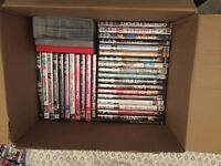 2 box collection of DVDs