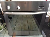 Indesit oven - single oven brushed silver