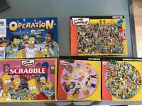 Simpson's bundle - operation, scrabble and 3 jigsaw puzzles