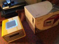 New Sonoro Cubo FM Radio/CD player (model AU-1300), Saffron Yellow, superb sound, beautiful design