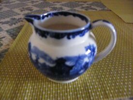 Wedgewood Etruria Chinese blue milk jug