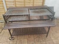 Extra Large Stainless Steel HEAVY DUTY HAND MADE Charcoal BBQ