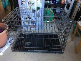 Dog Crate! Dual coated 3 door Galvanised Dog Crate