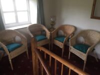Wicker conservatory set/furniture.