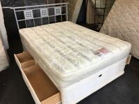 Very clean 4ft 6' Double storage Divan set (FREE DELIVERY)