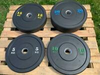 Brand new Rubber Bumper Weight Plates Olympic Size 5kg-20kg