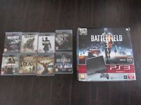 sony play station 3 with 8 games ps3 with controller and modern warefare god of war battlefield