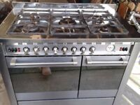 DIPLOMAT ADP5520 DUEL FUEL KITCHEN RANGE COOKER IN STAINLESS STEEL - 5 BURNER